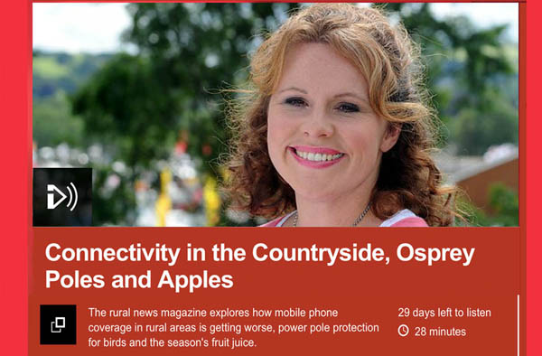 PIcture of 'Country Focus' presenter from BBC Radio Wales website.