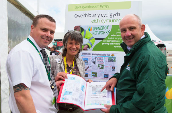 Gail Edgley with 2 key Managers from Scottish Power at the Anglesey Show 2015
