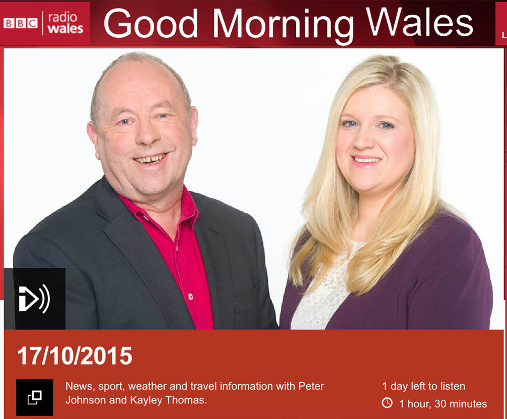 Image from BBC Radio Cymru / Wales 'Good Morning Wales' programme where the issue was featured
