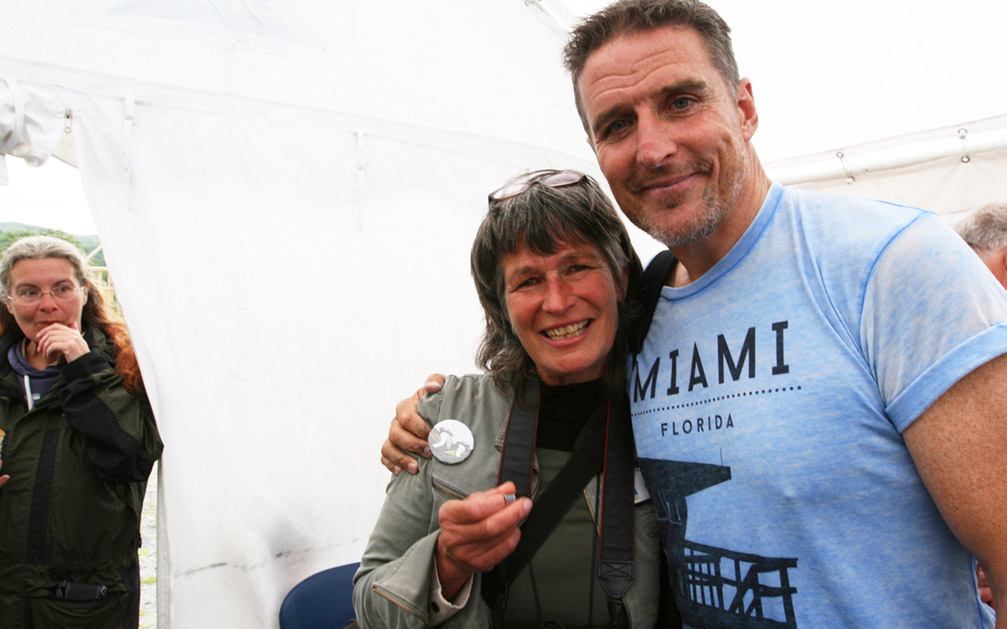 Jimmy's ring presented by Iolo Williams