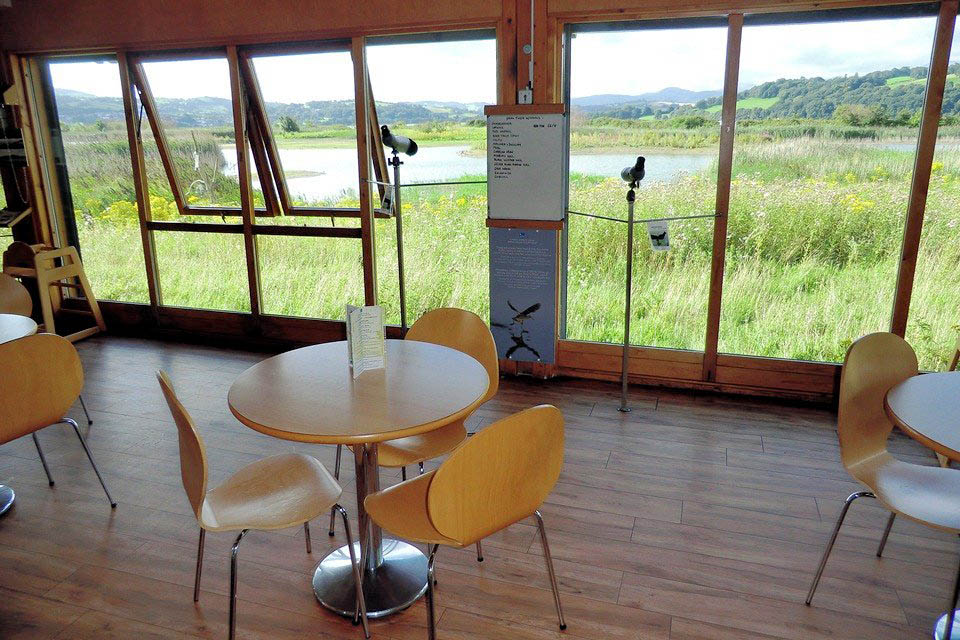 RSPB Conwy Bird Reserve Cafe where 2 out of 3 meetings thus far have taken place